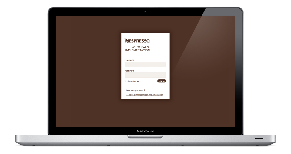 login page of the platform