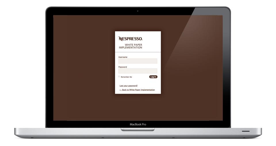 Page login de la plateforme