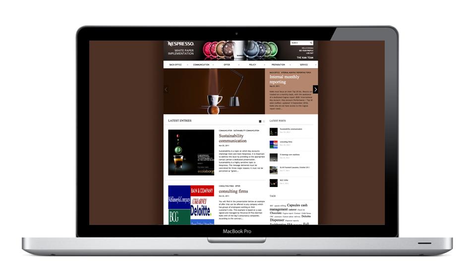 Page d'accueil de la plateforme
