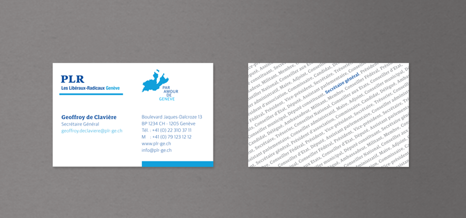 Overview of the business cards