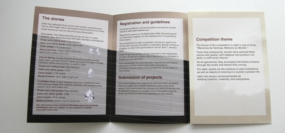 Overview of the leaflet