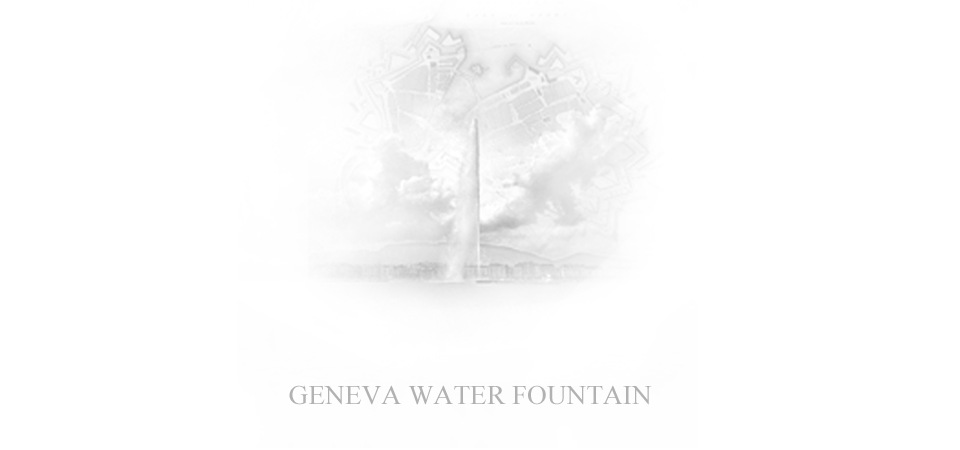 The iconic water fountain of Geneva adapted to the design