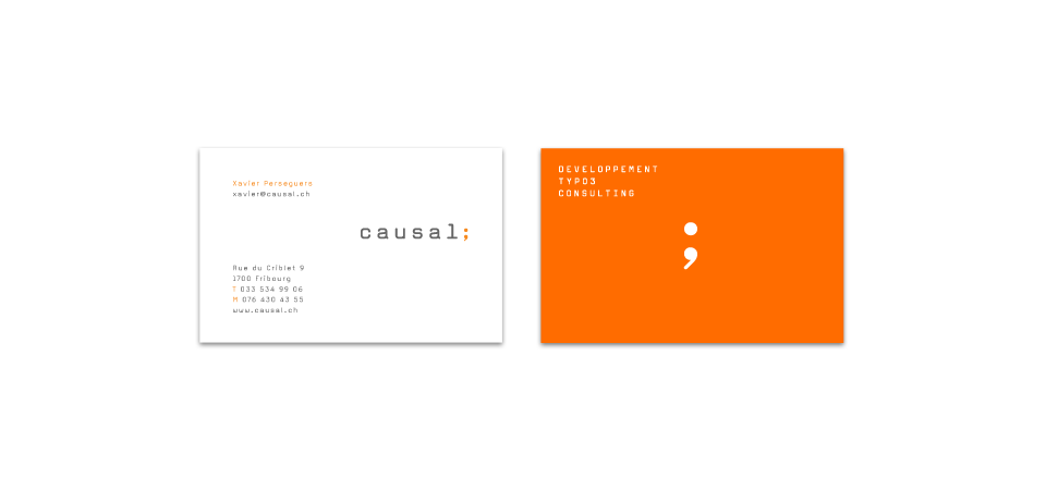 business cards according to graphic identity