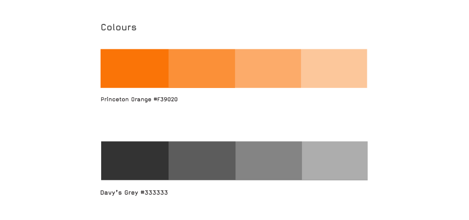 colors used for graphic identity