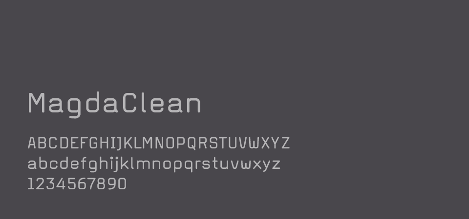Font for text in grey