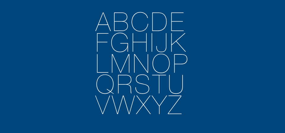 Overview of the color with the typography