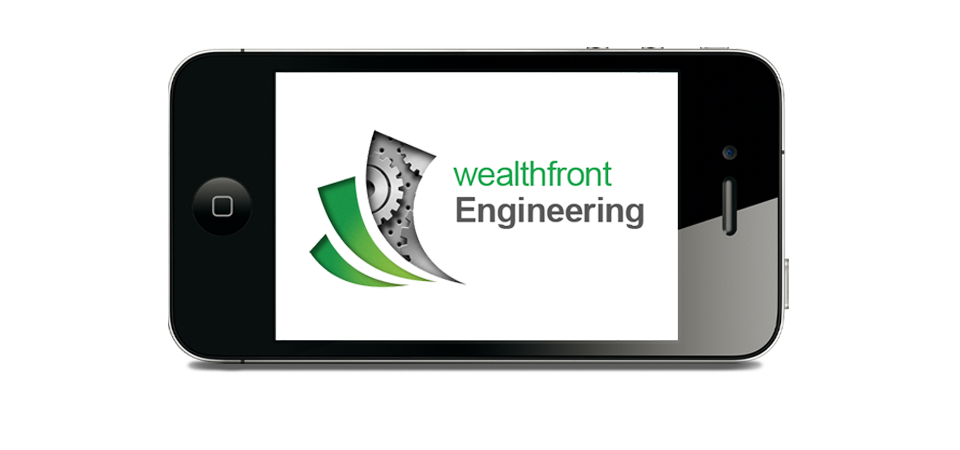 wealthfront logo displayed on mobile