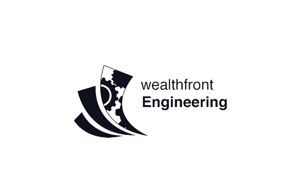 black and white wealthfront logo