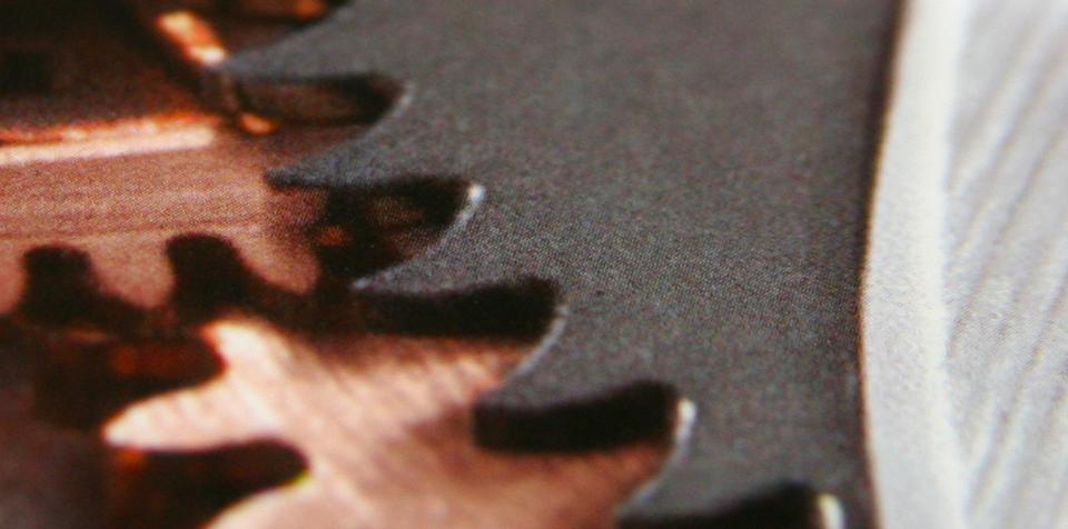 Détail des rouages montrés sur la brochure