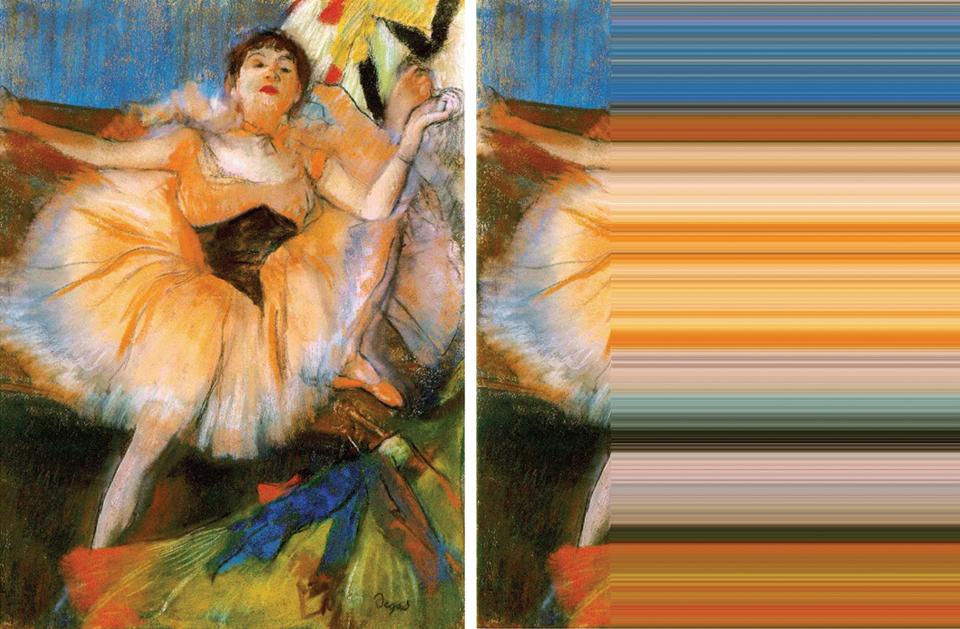 Palette de couleurs et source pour les éléments de communication print