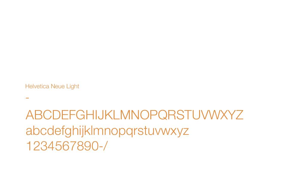 Typographie utilisée pour les éléments de communication print