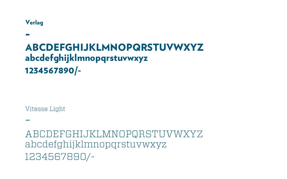 Typographie de la nouvelle identité visuelle