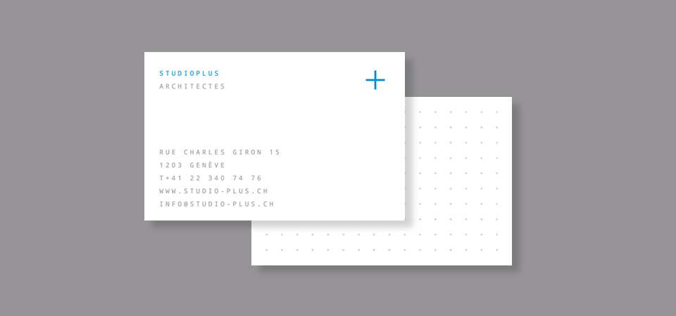 Corporate identity on business cards