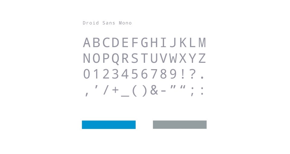 Corporate identity typography and colors
