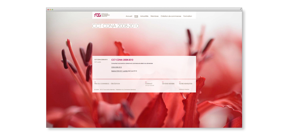 Overview of FCG website
