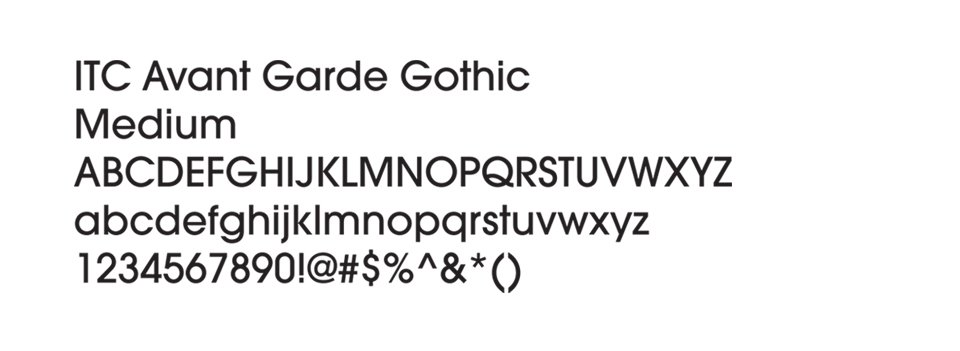 Typography used for FCG website