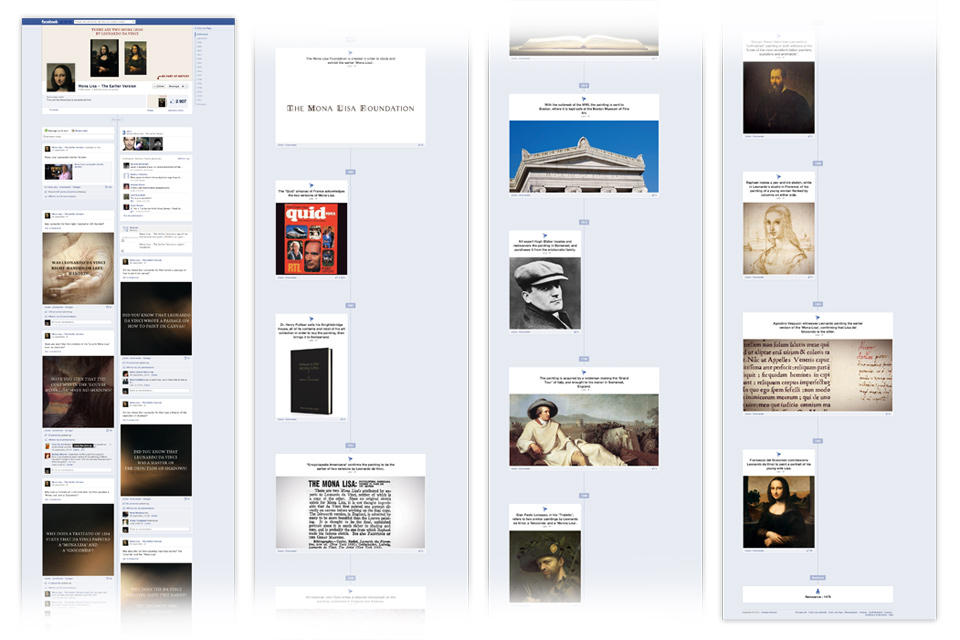 Display of the Fondation's Facebook timeline