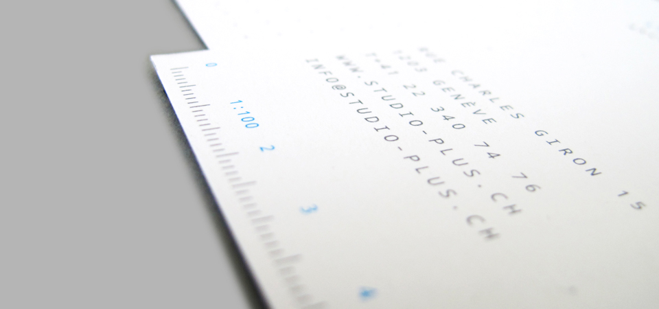 Detail of the Corporate identity on stationery product