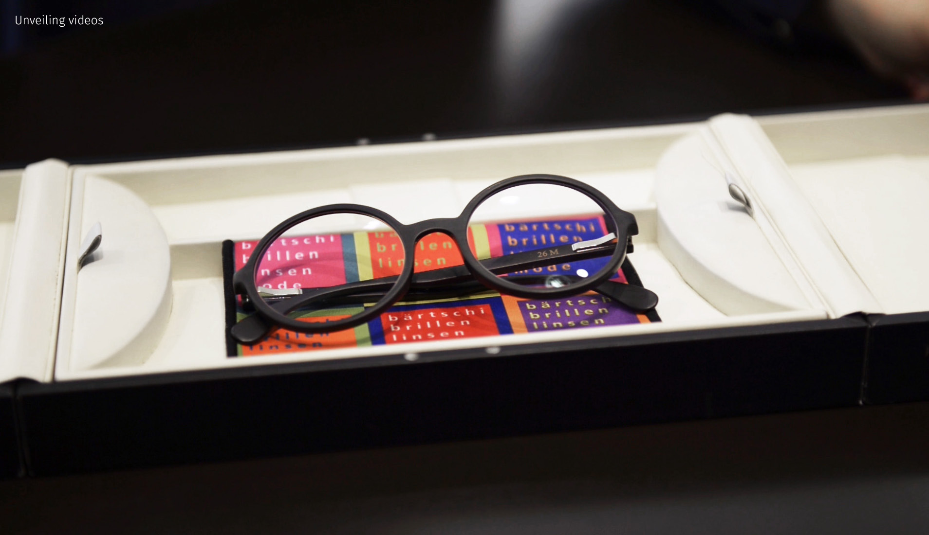 A pair of glasses in the store