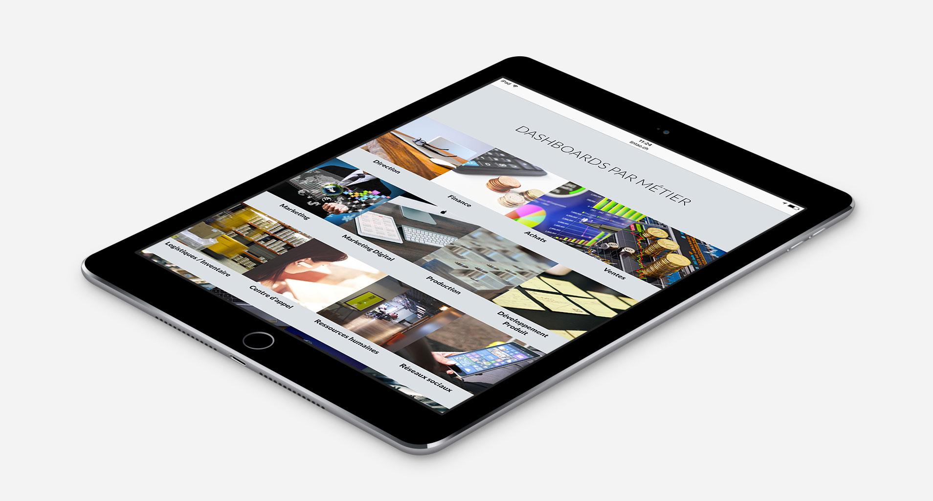 Visual der neuen Lintao Website auf dem iPad