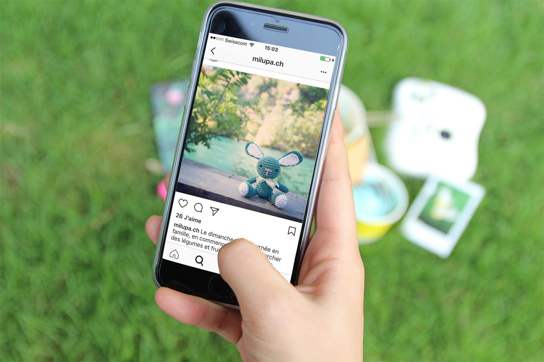 Smartphone Milupa Instagram