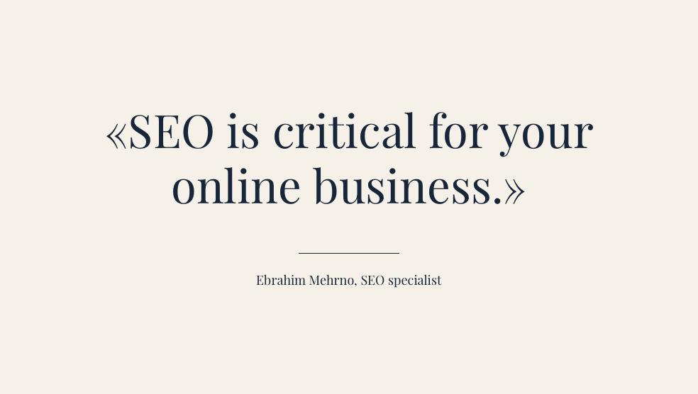 Le SEO est essentiel pour votre processus métier en ligne