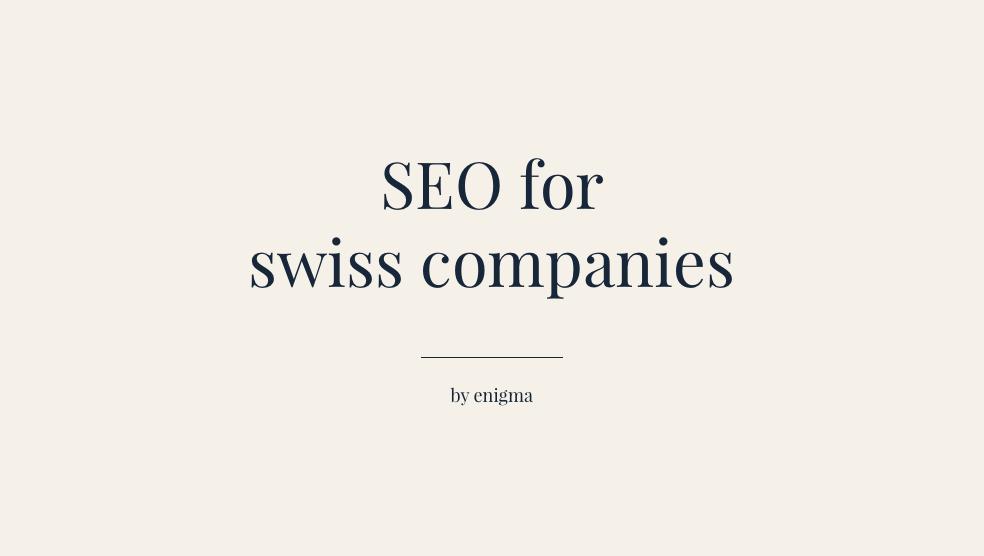 SEO services in Switzerland