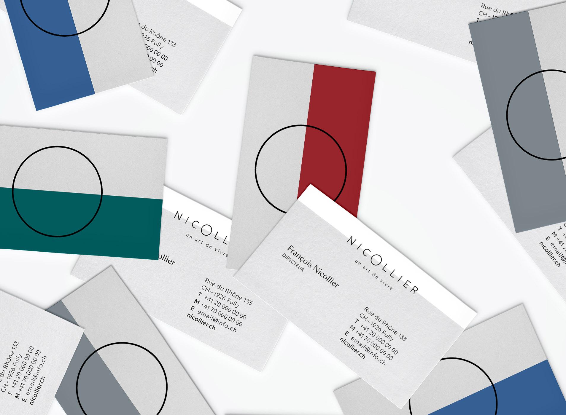 Variété de cartes de visite Nicollier