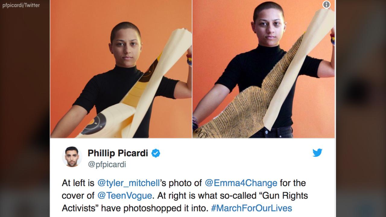 Fake news: a picture of Emma Gonzalez is manipulated to attack her behavior and opinions