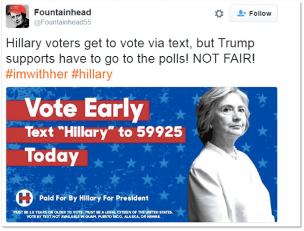 Fake news: false content is being spread out on social media to keep Hillary voters at home