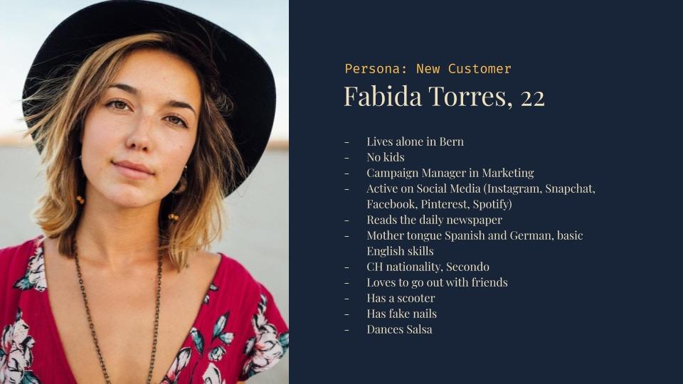 Persona example called Fabida Torres