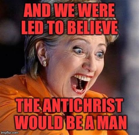Hillary Clinton depicted as devil or satan