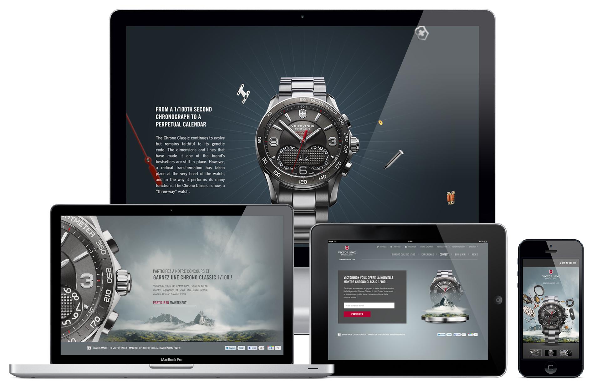 website design for a swiss watch brand