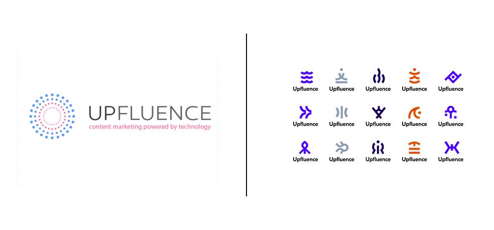 upfluence logo old vs. new
