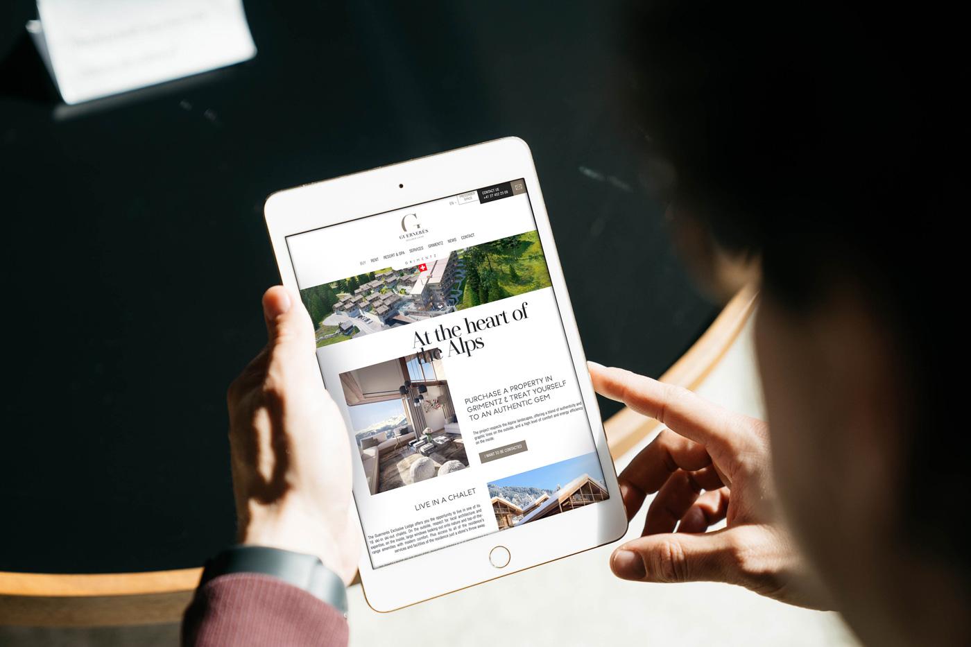Tablet vertical immobilier